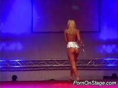 juvenile playgirl stripper on stage