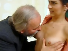 cute schoolgirl screwed by her tricky old teacher